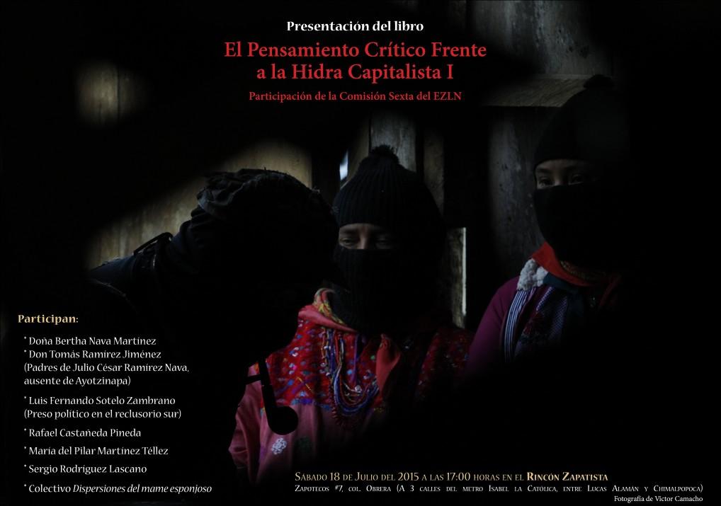 """Parole dell'EZLN al seminario """"El Pensamiento Crítico frente a la Hidra Capitalista"""""""